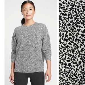 Athleta Leopard Street to Studio Sweatshirt